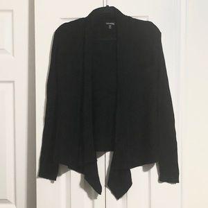 Ribbed long sleeve cardigan